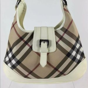 BURBERRY BROOK in nova check HOBOw/Certificate